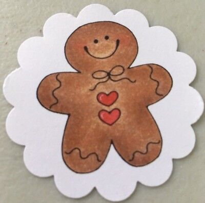 **60**  Gingerbread Man Christmas 🎄 Gift Tags Favor Tags Handmade - Handmade Christmas Gift