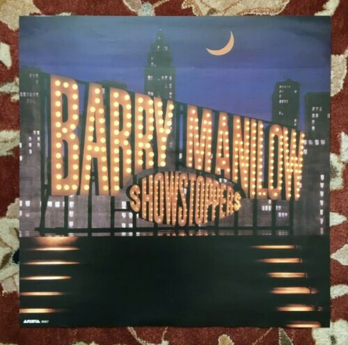 BARRY MANILOW  Showstoppers  rare original 2-sided promotional poster