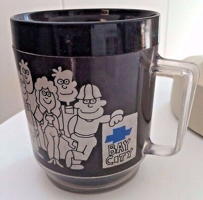 TODAY TOMORROW TOGETHER Glass Cup Souvenir of BAY CITY MI Michigan CHEVROLET