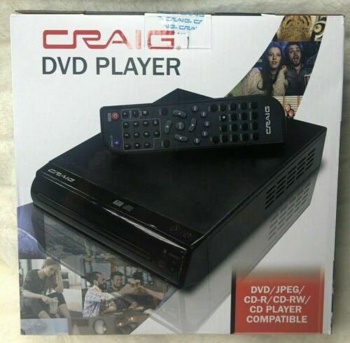 Craig CVD512A Compact DVD Player w/ Remote DVD/DVD-R/DVD-RW/JPEG/CD-R/CD-RW/CD