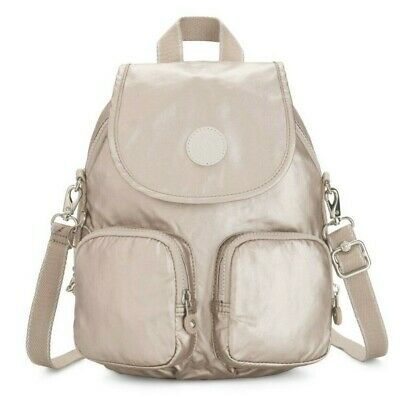 Kipling FIREFLY UP Small Backpack Covertible To Shoulder Bag - Metallic Glow