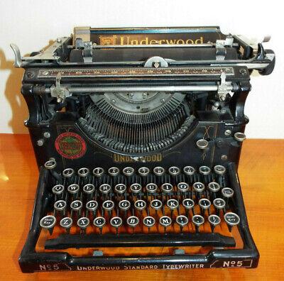 Underwood No. 5 Antique 1920's International Typewriter Exchange PICKUP ONLY