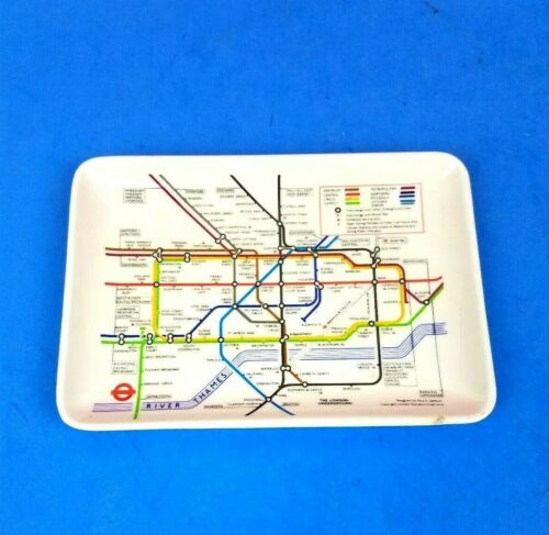 "Small Plastic Souvenir London Underground Map Tray Transport Executive 6""x4"""