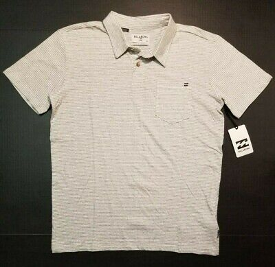 Billabong Men's Standard Issue Polo Shirt EGS Gray White Golf S M L XL NWT FAST