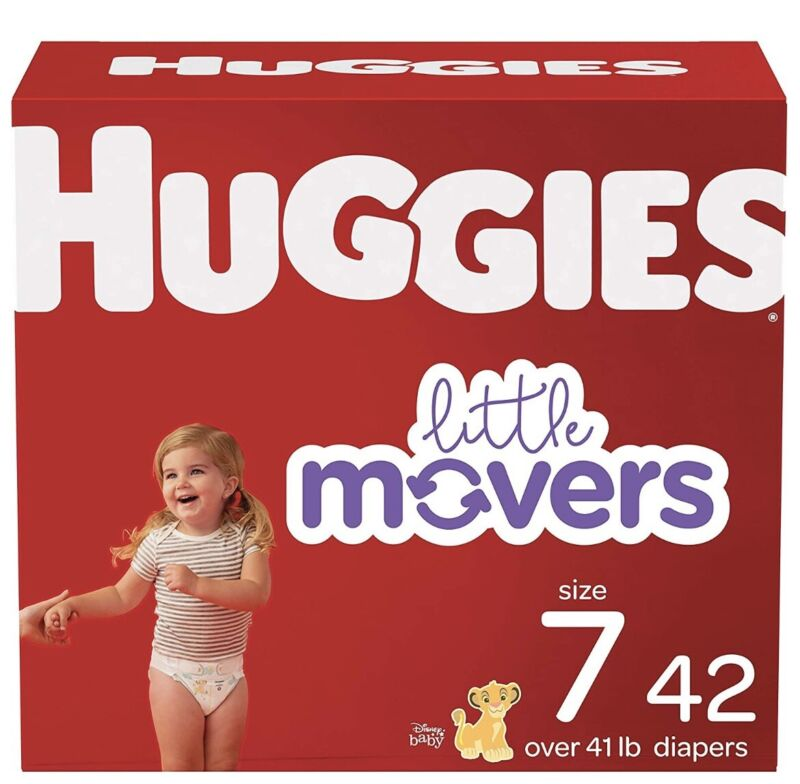Huggies Size 7 Diapers XXL Adult Baby 4diapers