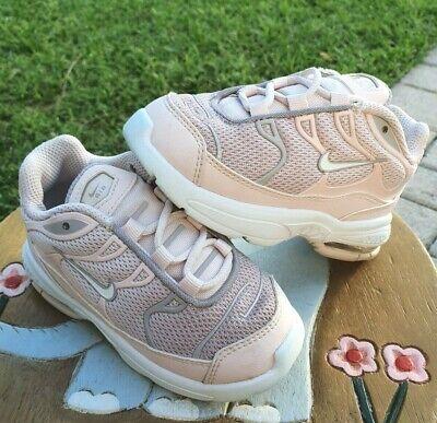 Nike Air Max Plus PINK/Gray Fade Girls' Toddler 8C