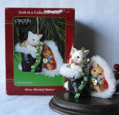 Carlton Ornament RARE! 2001 Merry Mischief Makers Cat Kitten #6