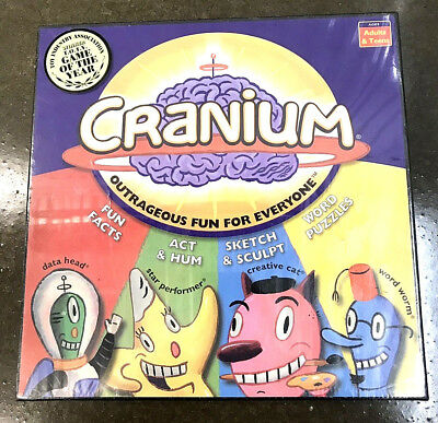 Cranium Board Game Outrageous Fun for Everyone Teen adult New Sealed Box