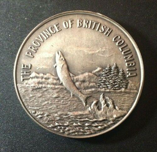1871 British Columbia 🔥 Canada Medal / Token ✨ Salmon Fish ✨ Nickel ? Silver ?
