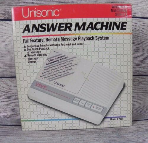 NEW Vtg Unisonic Answer Machine Full Feature Remote Message Playback MODEL 8720