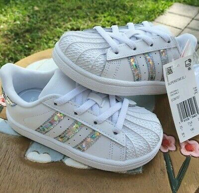 Adidas Superstar White Girls' BRAND NEW Toddler 8C