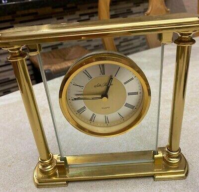 VTG Seth Thomas Glass BRASS Mantle Clock Germany