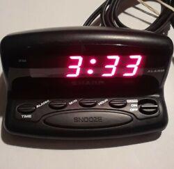 Sharp SPC026 Nightstand Alarm Clock Digital LED Display w/Snooze Battery Backup