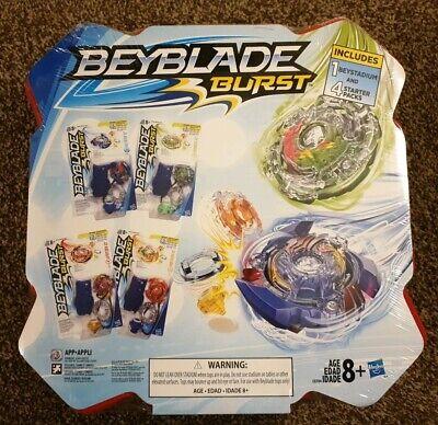New Beyblade Chaos Core Burst Stadium Bundle - 1 Beystadium and 4 Starter packs