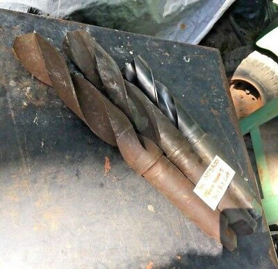 3pc Morse Taper 5 Drill Bit Lot Machinist Radial Drilling Lathe Mill Tool