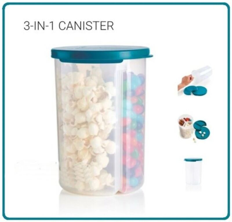 Tupperware three in one canister