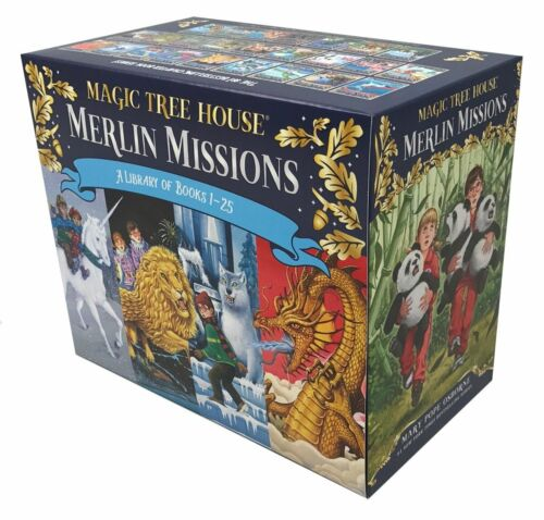 Magic Tree House Merlin Missions #1-25 Boxed Set by Mary Pope Osborne (2017,...