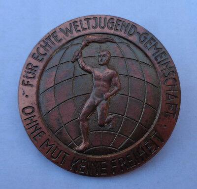 original  Abzeichen  Für Echte Weltjugend.-Gemeinschaft Ohne Mut keine  Freiheit