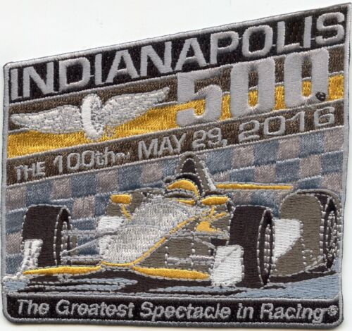 2016 INDIANAPOLIS 500 The Greatest Spectacle In Racing INDIANA not police PATCH