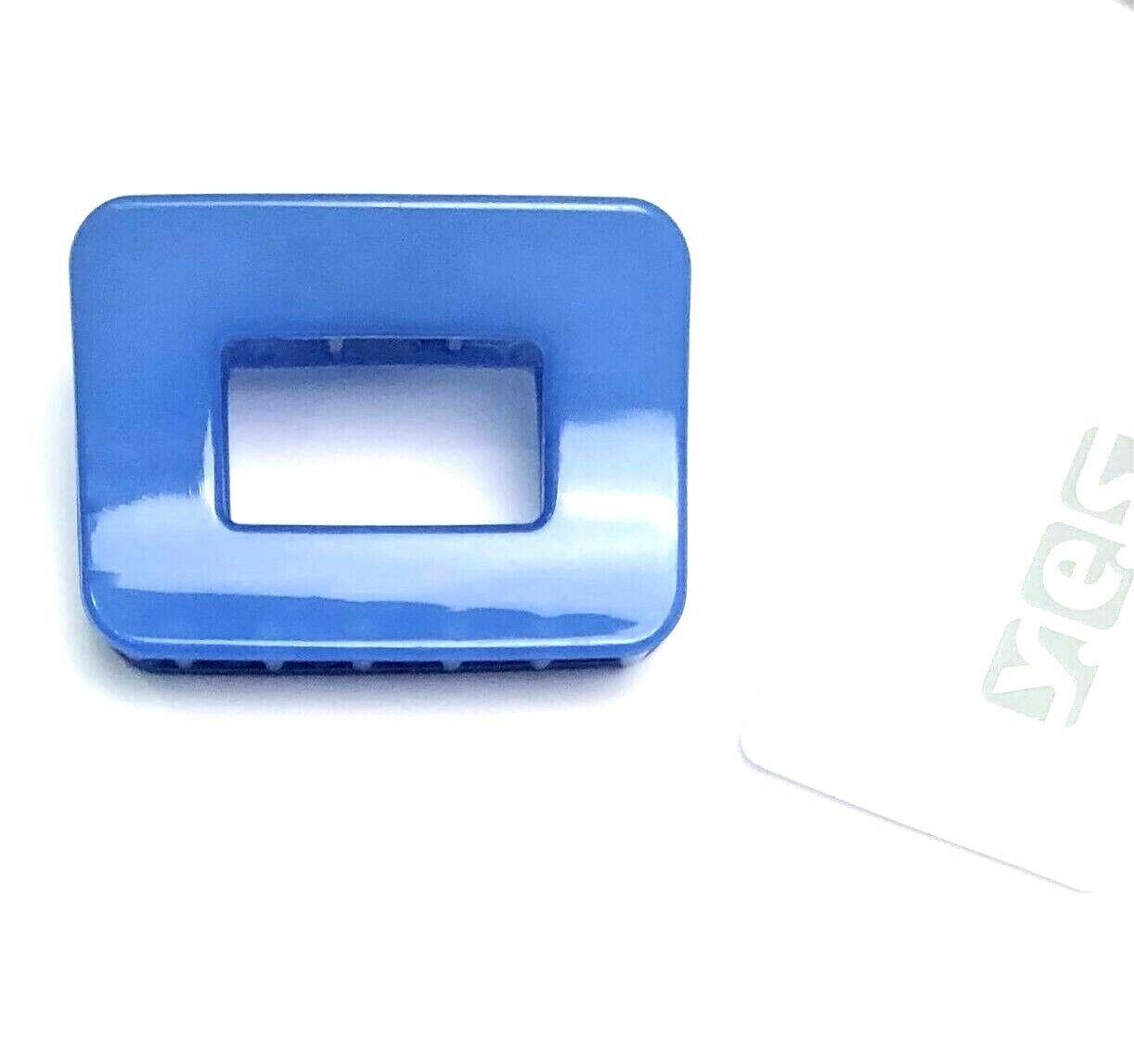 schöner Haarkrebs Haarklammer Haarkralle blau eckig 5,7 cm x 4 cm SOLIDA