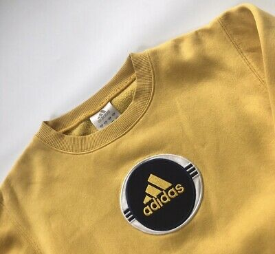 vintage yellow Adidas sweatshirt jumper size xs