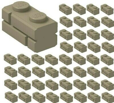 Lot of 25 Lego Brick Modified 1 x 2 Log Bricks REDDISH BROWN Part # 30136