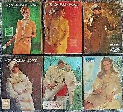 6 VINTAGE 1966 1967 1968 1969 MONTGOMERY WARD CATALOG LOT ADVERTISING L@@K *NR*