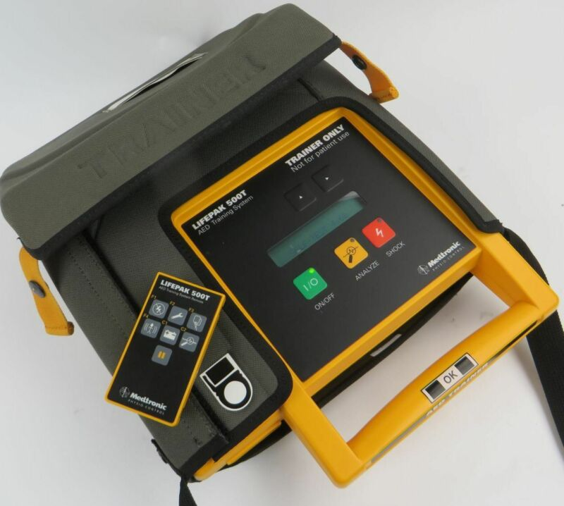 Medtronic Physio-Control LifePak 500T - AED Training System - TESTED TO POWER ON