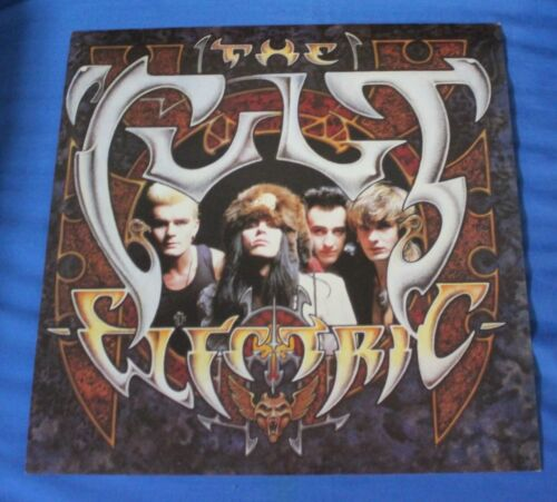 """The Cult """"Electric"""" Original 2 Sided Promo 12 x 12 Poster Flat 1987"""
