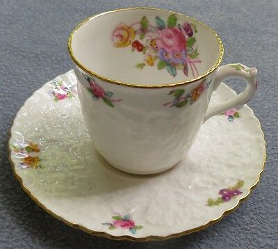 Spode Dresden Rose Demitasse Cup and Saucer Set  Dresden Rose Cup