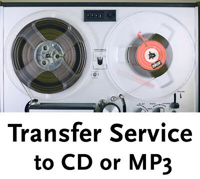 """7 inch Reel to Reel 1/4"""" Audio Tape Transfer Convert Copy to CD + Hiss reduction"""