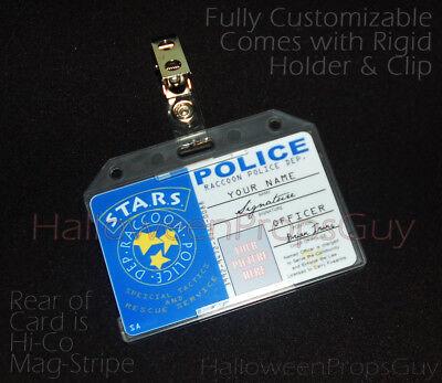 RESIDENT EVIL Style Raccoon Police Custom ID Card PVC Prop Replica Name, Photo +](Custom Photo Cards)
