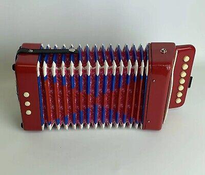 Child's Vintage Retro Accordion In Working Condition. Music Instrument