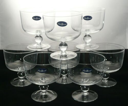 Luigi Bormioli Italy Individual Trifle Bowls Set of 8 Dessert Dishes Labled