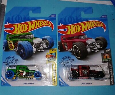 Hotwheels 2020 G Case J Case Bone Shaker HW Art Cars Dream Garage HTF Rare