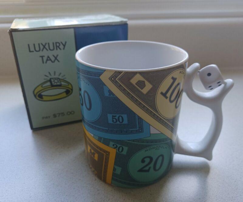Dept 56 Retired Vintage 1999 MONOPOLY Game Spinner Dice Coffee Mug Unused