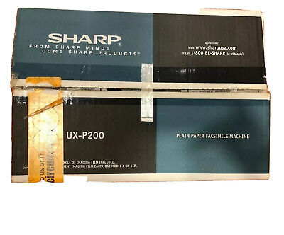 Sharp Ux-p200 Plain Paper Fax Machine Copier Easy Navigation New Open Box