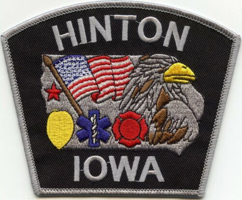HINTON IOWA IA EMS FIRE POLICE PATCH