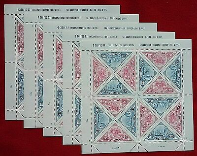 New 80 (5 x 16) PACIFIC '97  EXHIBITION 32 ¢ US PS Postage Stamps Sc # 3130-3131