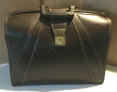VINTAGE Leather Briefcase, Doctor