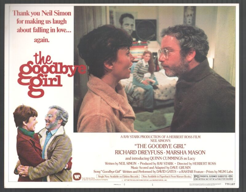 Goodbye Girl-Richard Dreyfuss-Marsha Mason-Lobby Card-#1-Color