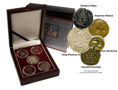 Search for the True Cross:5 Ancient Coins Historical Figures with the True Cross