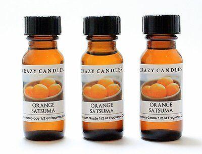 3 Orange Satsuma 1/2oz Premium Grade Scented Fragrance Oil Crazy Candles