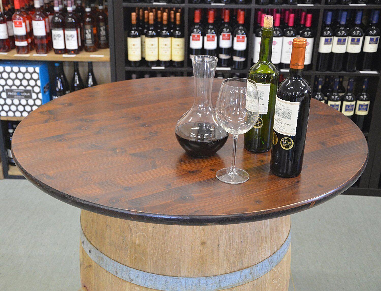 Tischplatte / Holzplatte rund 80-100cm für STEHTISCH, HOLZFASS, FASS, WEINFASS