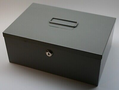 Steelmaster 221618201 Heavy-duty Steel Security Cash Box With Lock Missing Keys
