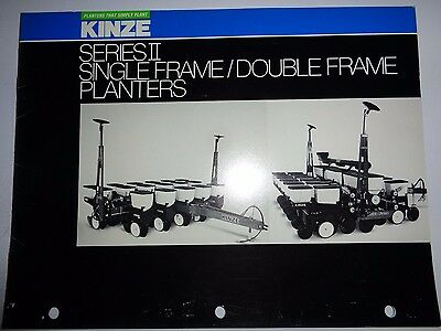 Kinze Series Ii Single Frame Double Frame Planter Sales Brochure Literature