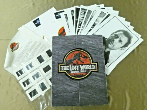 Jurassic Park The Lost World Movie Press Kit Folder Booklets 9 Photos 12 Slides