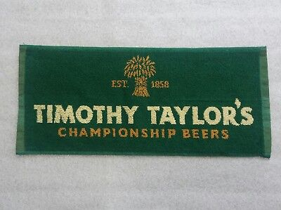 "ONE TIMOTHY TAYLOR""S BREWARY KEIGHLEY WEST YORKSHIRE BAR TOWEL - NEW -"