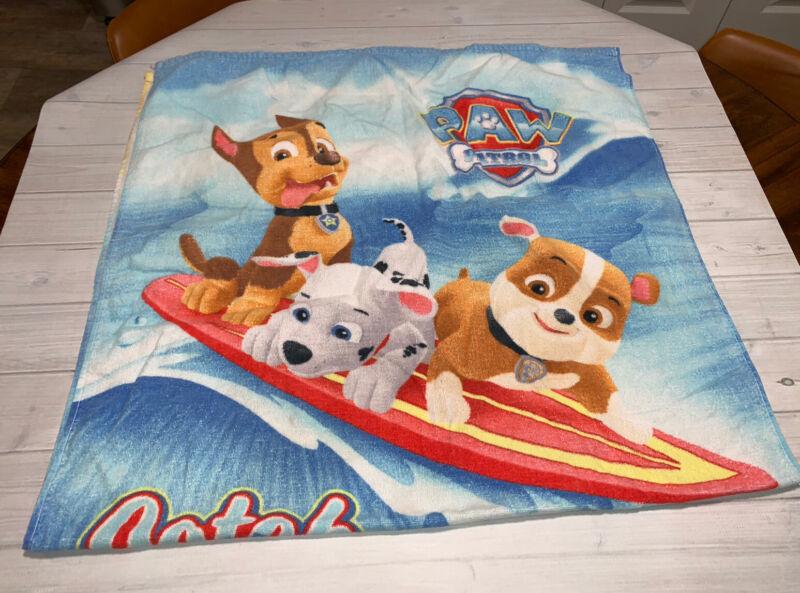 Paw Patrol Little Kids Beach Towel Vacation Beach Rubble Marshall Skye Surfboard