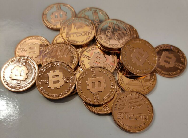 2016 Commemorative Bitcoin Penny!! DAVE MINTMARK!! .999 Cu Collectible Coin!